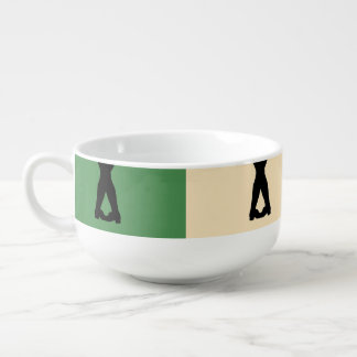 Irish Dancers Soup Bowl With Handle