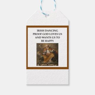 irish dancing gift tags