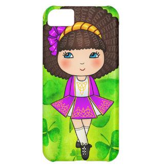 Irish dancing girl in violet dress case for iPhone 5C