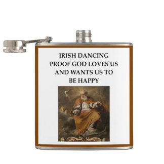 irish dancing hip flask