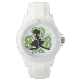 Irish Dancing Shamrock Celtic Knot Watch