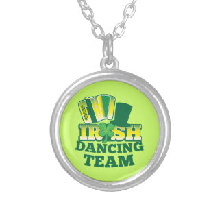 Irish Dancing TEAM Silver Plated Necklace