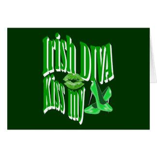 Irish diva kiss my shoes card