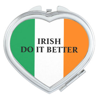 Irish do it better flag of Ireland personalized Vanity Mirror