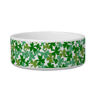 Irish Dog Bowl Shamrocks Personalized Name Bone