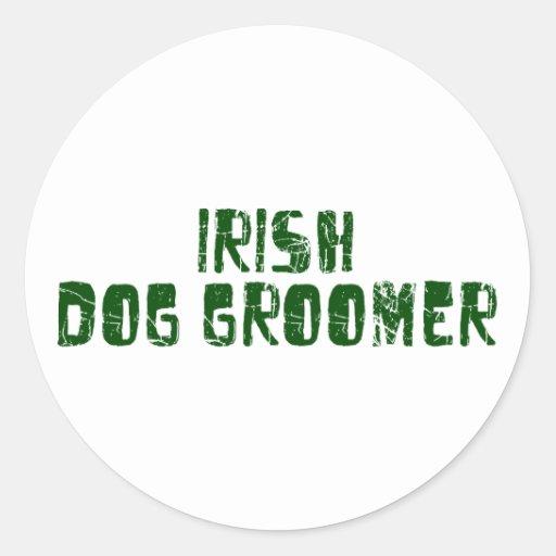 Irish Dog Groomer Round Sticker
