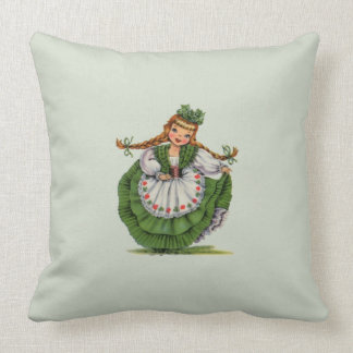 Irish Doll Throw Pillow