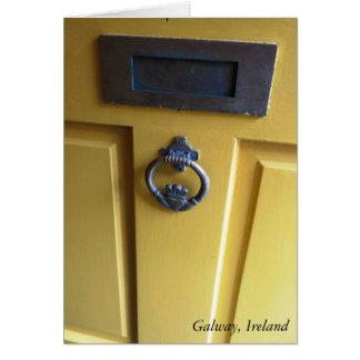 Irish Door Knocker Greeting Card