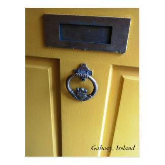 Irish Door Knocker post card