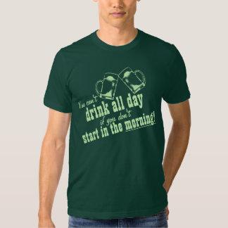 Irish Drinking Humor Quote T Shirt