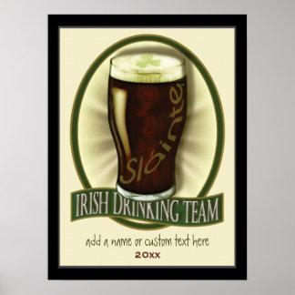 Irish Drinking Team Personalized Print