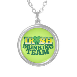 Irish Drinking TEAM Silver Plated Necklace