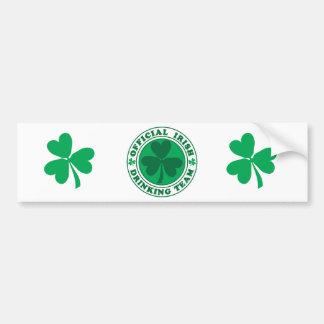 Irish Drinking Team/St. Patrick's Day Bumper Sticker