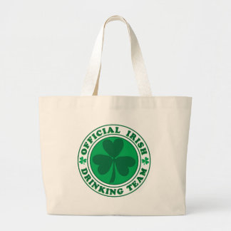Irish Drinking Team/St. Patrick's Day Large Tote Bag