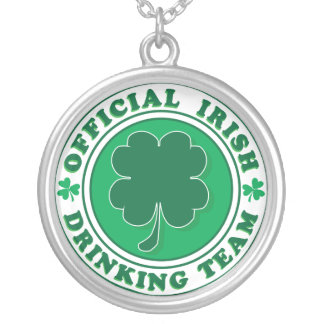 Irish Drinking Team/St. Patrick's Day Silver Plated Necklace
