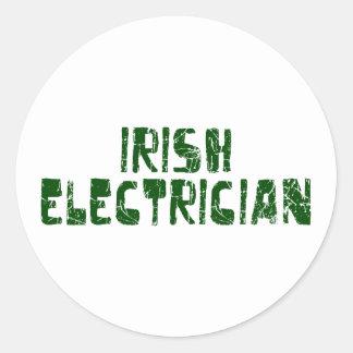 Irish Electrician Classic Round Sticker