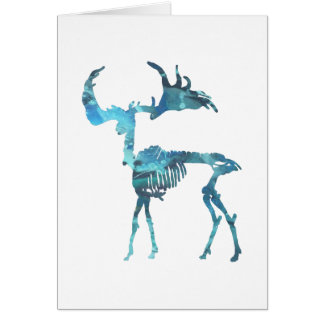 Irish Elk Skeleton Card