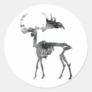 Irish Elk Skeleton Classic Round Sticker