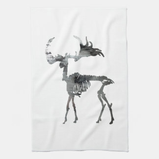 Irish Elk Skeleton Kitchen Towel
