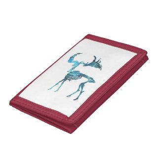 Irish Elk Skeleton Tri-fold Wallets