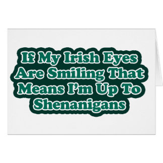 Irish Eyes Quote Card