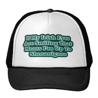 Irish Eyes Quote Hats