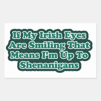 Irish Eyes Quote Stickers