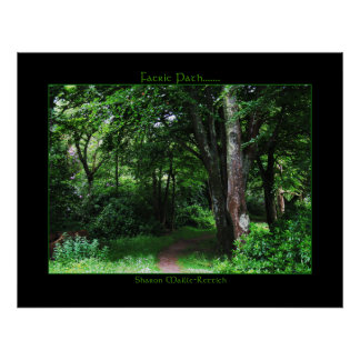 Irish Faerie Path Poster Print