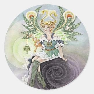 Irish Faery Round Sticker