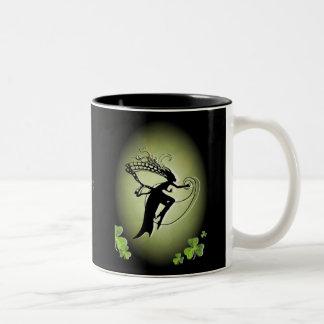 Irish Faery Silhouette Two-Tone Mug