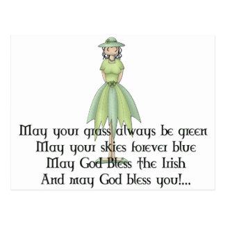 Irish Fairy Girl 1 - Irish Quote Postcard