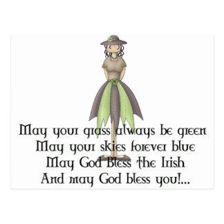 Irish Fairy Girl 2 - Irish Quote Postcard