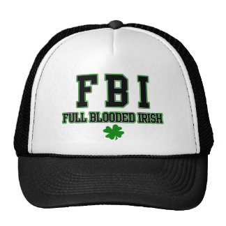 Irish FBI Full Blooded Irish Hat