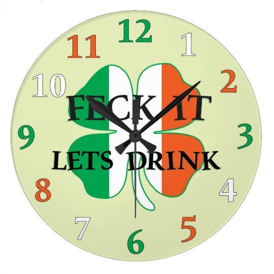 Irish Feck It Wall Clock