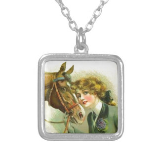 Irish Filly Silver Plated Necklace