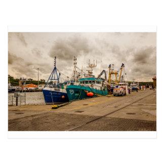 """""""Irish fishing boats"""" postcard"""