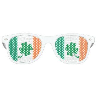 Irish Flag and 4 Leaf Clover Retro Sunglasses