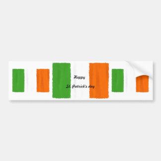 Irish flag, banner, St. Patrick's Day watercolor Bumper Sticker
