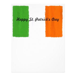 Irish flag, banner, St. Patrick's Day watercolor Letterhead