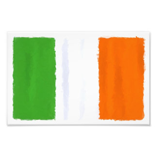 Irish flag, banner, tricolor watercolor photo print