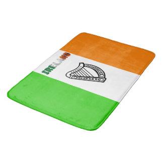 Irish flag bath mat