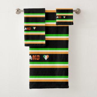 Irish flag bath towel set