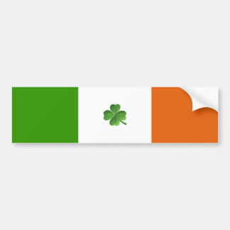 Irish flag bumper sticker