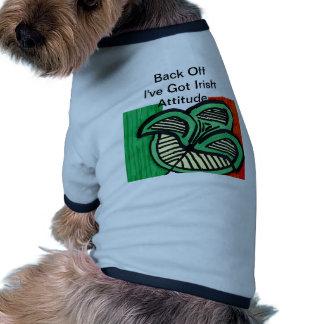 Irish Flag Clover Dog Tee