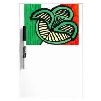 Irish Flag Clover Dry-Erase Board