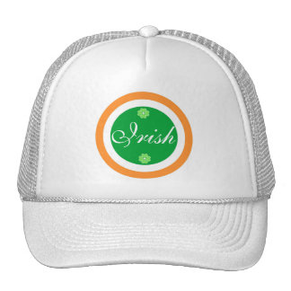 Irish flag colors trucker hat