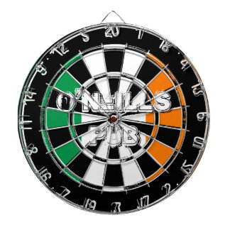 Irish flag dartboard design for pub or man cave