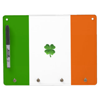 Irish flag dry erase board with keychain holder