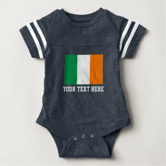 Irish flag football jersey baby bodysuit
