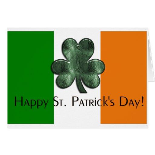 Irish Flag Happy St. Patrick's Day Greeting Card